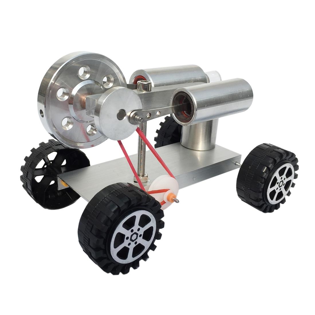 Enfants Science jouets éducatifs Base en métal roue en caoutchouc Stirling moteur chariot vapeur tige modèle Kit de construction 2019 enfant cadeau