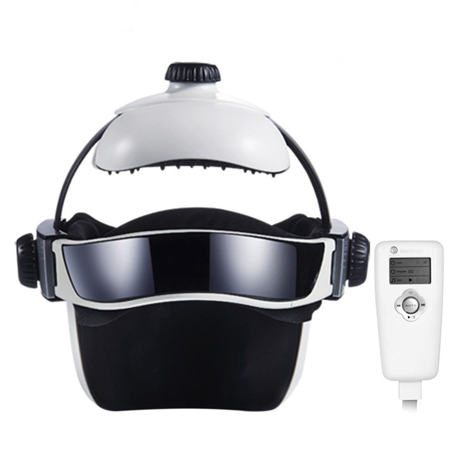 Electric Head Massager Wireless Infrared Helmet Pressure Acupuncture Massage New Us Plug
