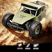 BG1527 1:16 Alloy Military Truck High Speed Climbing Off road Vehicle Remote Control Toy For Children's Gifts