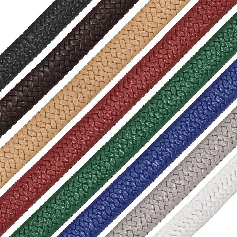 12x6mm örgü deri kordon DIY için erkekler bilezik takı çok renkli düz kordon aksesuarları bulguları el yapımı hediye