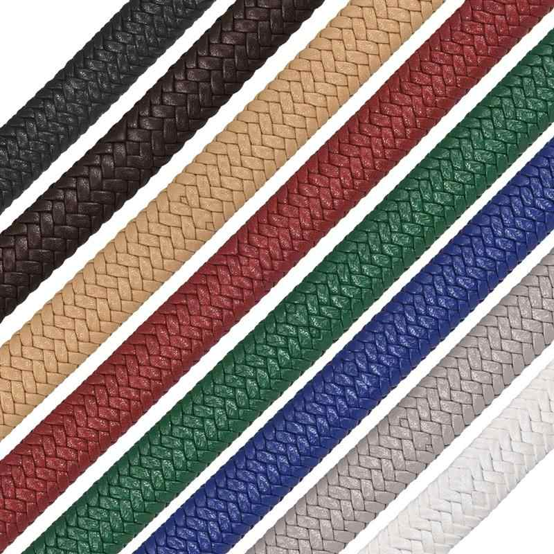 12x6mm Braid Leather Cord For DIY Men Bracelet Jewelry Multi Color Making Flat Cord Accessories Findings Handmade Gift