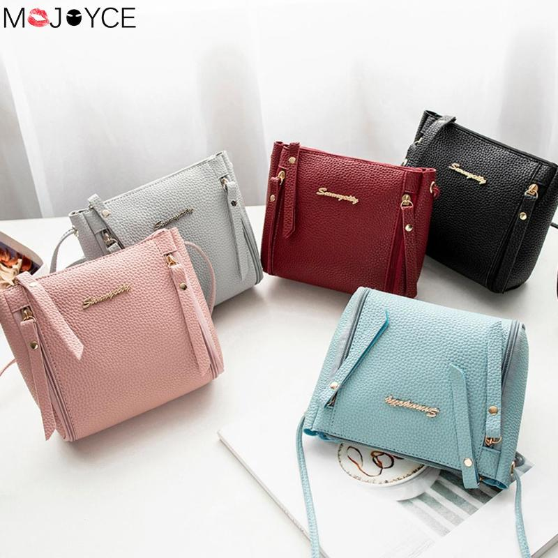 Women Fashion Casual Phone Coin Shoulder Bag Small Women PU Leather Messenger Bags Solid Clutch Zipper Crossbody Mini Bag 2019