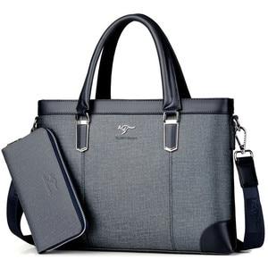 Image 1 - คลาสสิกออกแบบกระเป๋าถือสำหรับ Man Business กระเป๋าเอกสารกระเป๋าคอมพิวเตอร์ชายกระเป๋าสำนักงานผ้ากันน้ำ PVC Travel กระเป๋าทำงานไหล่