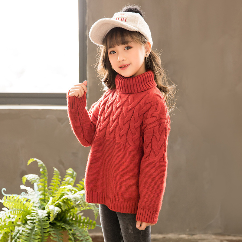 Neue Mädchen Pullover Solide Candy Farbe Mädchen Pullover Herbst Neue Gestrickte Baby Mädchen Rippen Pullover Kinder Kleidung Mädchen Pullover