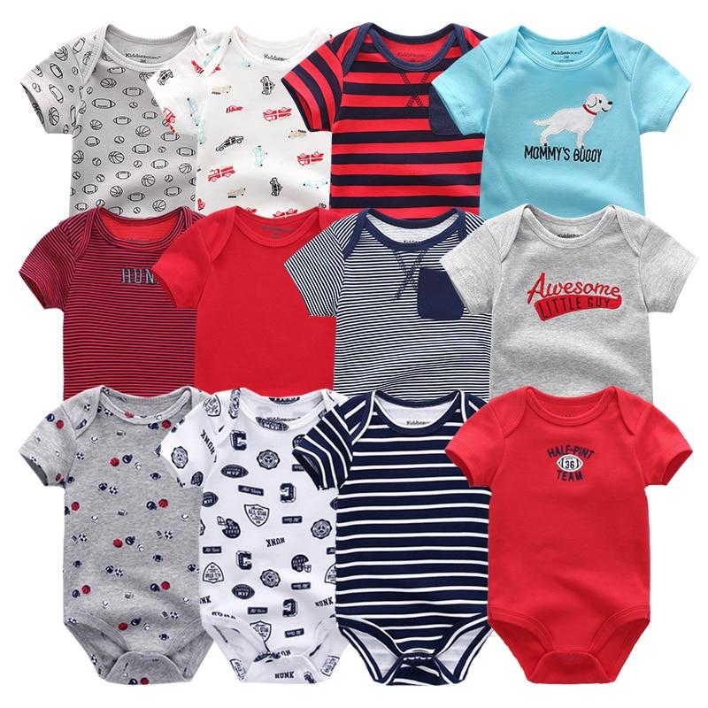 2021 6PCS/Set Unisex Newborn Baby Boy Clothes Unicorn Cotton Baby Girl Clothes Cartoon Girls Baby Clothing Jumpsuits Bodysuits 1