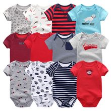 2020 6 adet/takım Unisex yenidoğan bebek oğlan giysileri Unicorn pamuk bebek kız giysileri karikatür kız bebek giyim tulumlar Bodysuits