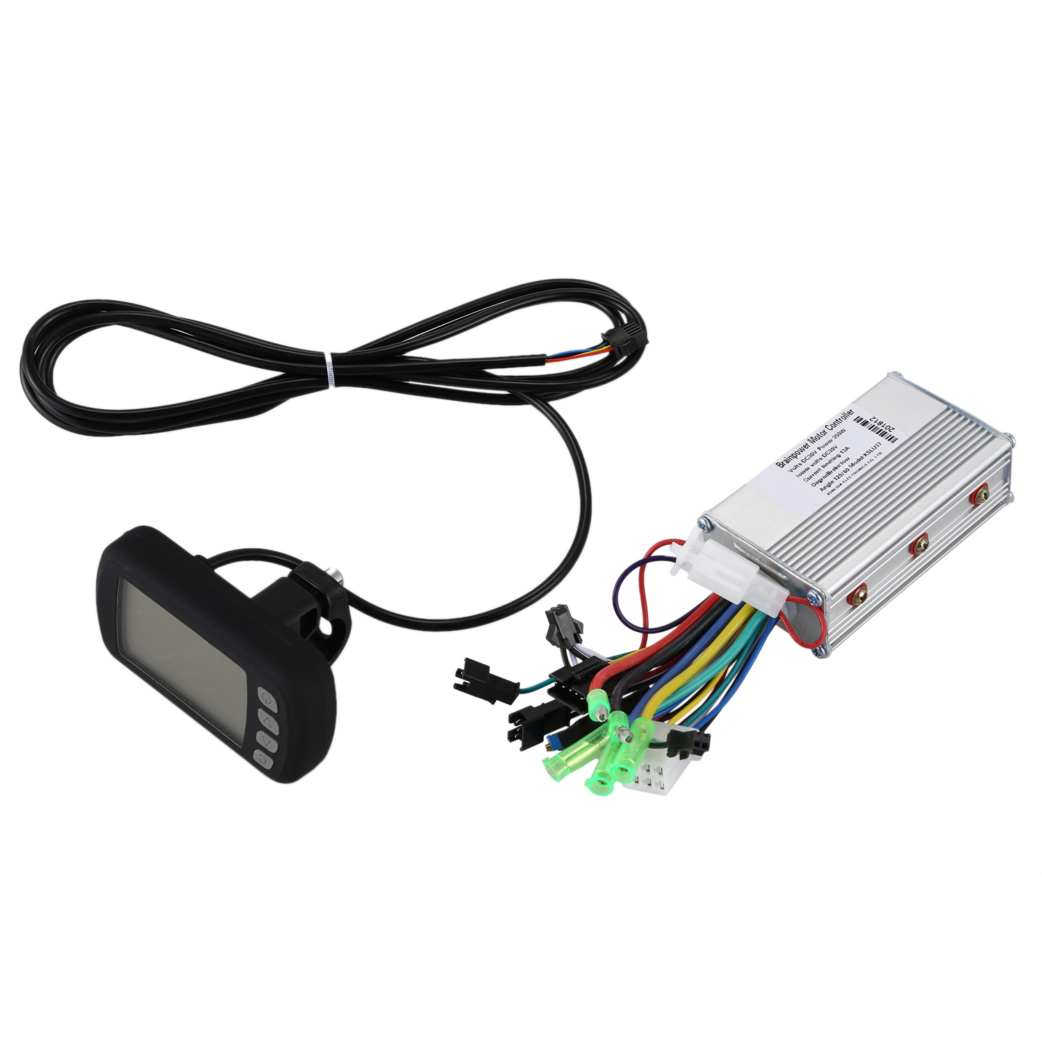 36V 350W Brushless Electric Bicycle Controller With Lcd Panel Meter Digital Gauge Set For E Bike