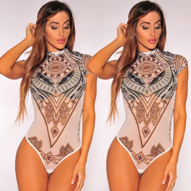4e92ec3c3e97 Women Lady Sleeveless Flora Short Romper Jumpsuit Bodysuit Stretch Leotard  Vintage Top Playsuit