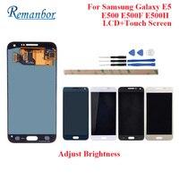Remanbor For Samsung Galaxy E5 LCD E500 E500F E500H LCD Display And Touch Screen Perfect Repair Parts Digital Accessory +Tools