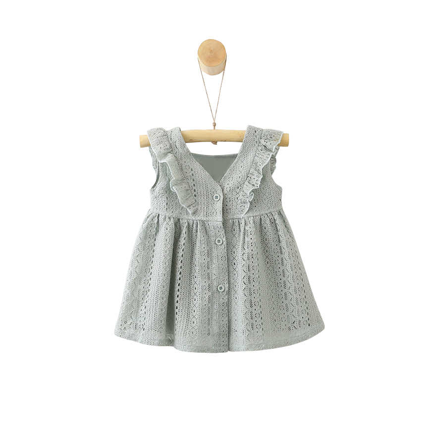 06cabe35fd summer lace dress age for 9 month-4 yrs toddler girls ruffle cute dresses  2019