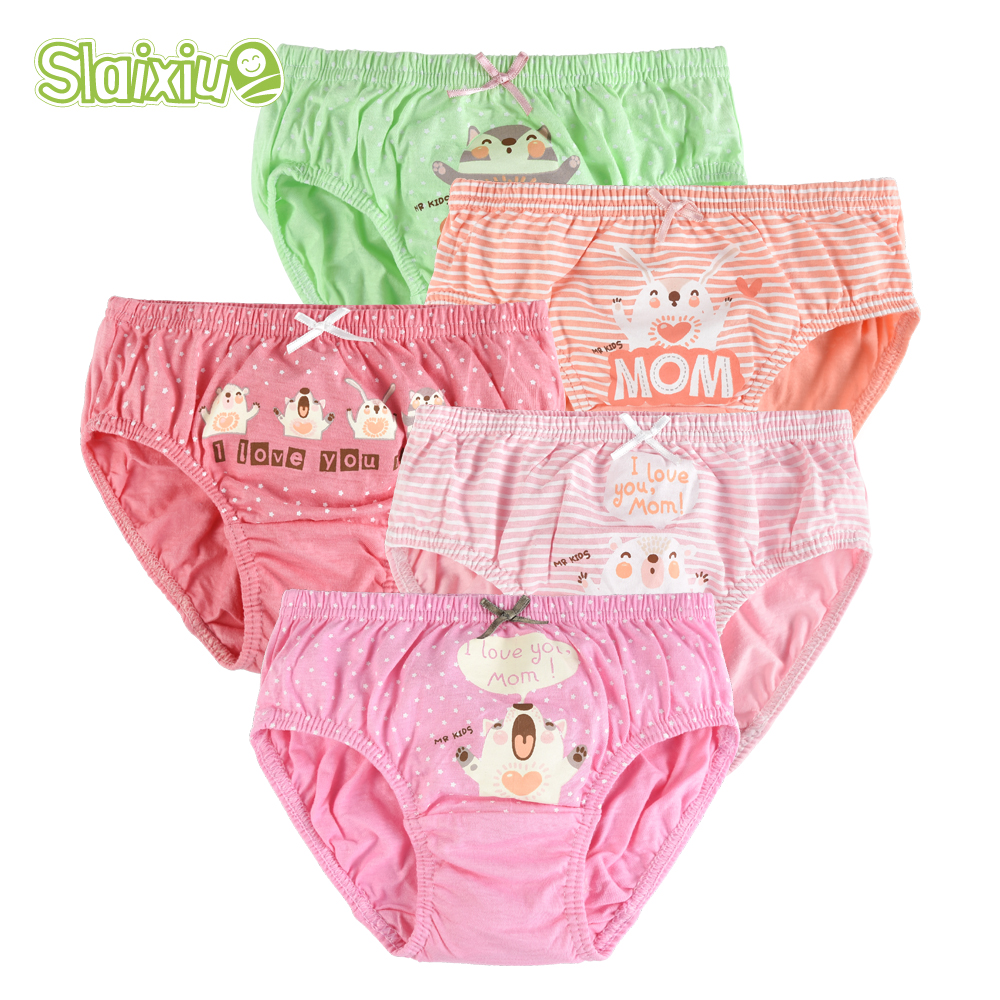 5 Pcs Cotton Girls Panties Cartoon Kids Baby Briefs Children Underwear Girl Cute Underpants Baby Clothes Summer 2-9T