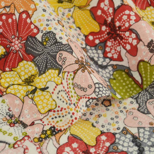 Patchwork Home Textile Art Work Lovely Flowers Designs Cloths for Doll's DIY Decoration 100% Cotton Fabric Clothing Tissu Telas