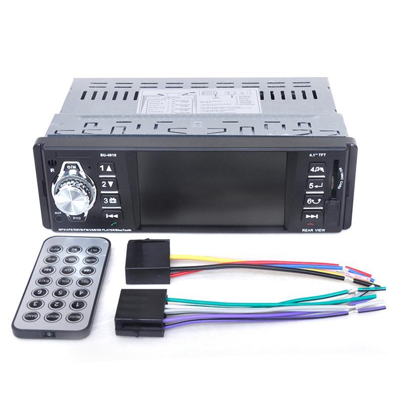 2019 Nouveau Bluetooth De Voiture Audio Stéréo Au Tableau de Bord FM Aux récepteur d'entrée SD USB MP3 Radio Lecteur