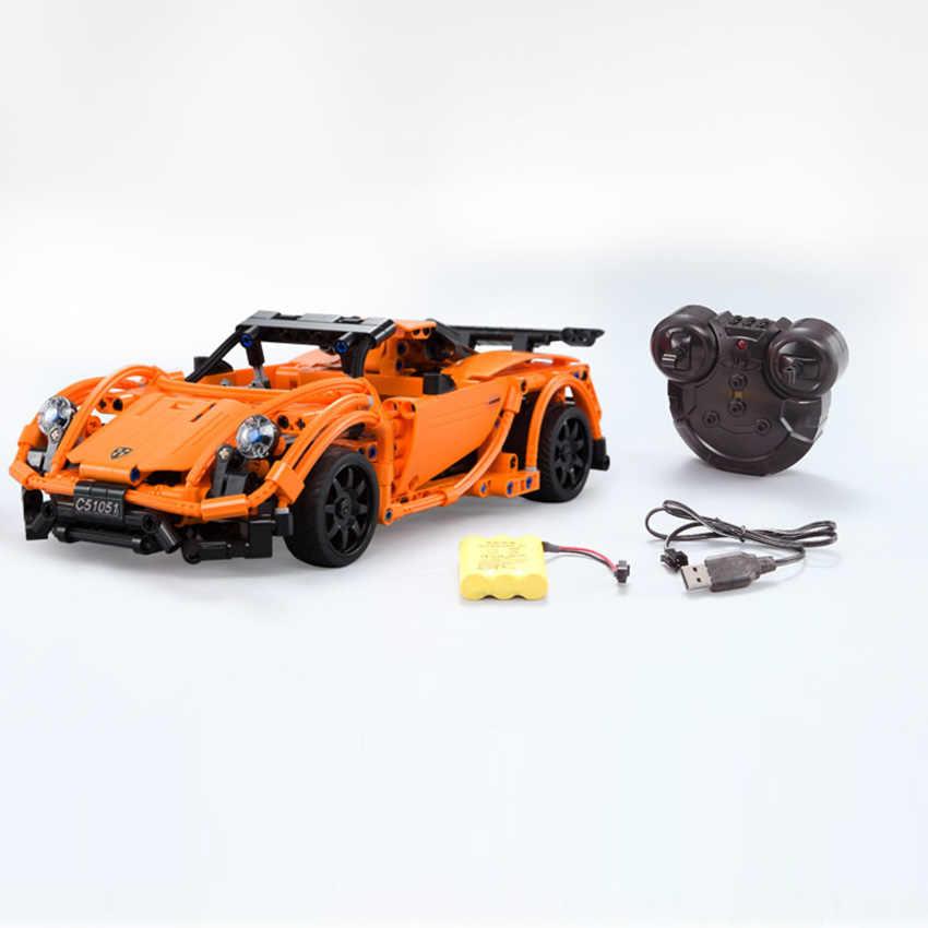 421pcs Technic Series Super Car RC Car Building Blocks Prosches Model set Brick Compatible Major Brands Toys Gift for children