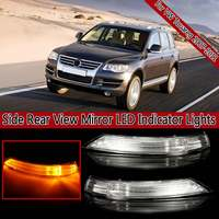 Left & Right Side Rear View Mirror LED Turn Signal Light Lamp 7L6 949 102C For VW TOUAREG 2007 2008 2009 2010 2011 7L6949101C