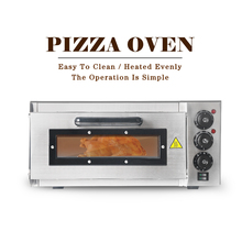 Get more info on the GZZT Electric Pizza Oven K-P1ST Fire Stone Catering Cake Professional Baking Oven 2KW Handle Single Layer EU/UK/UL Plug