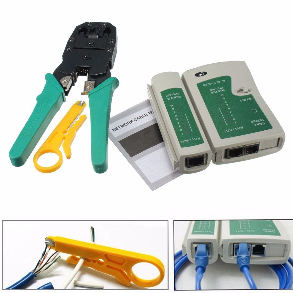 1PC Doersupp Cable Crimper RJ45 RJ11 RJ12 CAT5 LAN Network Tool Kit Cable Tester Stripper Crimper Plier DC 9V Magnatic Steel1PC Doersupp Cable Crimper RJ45 RJ11 RJ12 CAT5 LAN Network Tool Kit Cable Tester Stripper Crimper Plier DC 9V Magnatic Steel