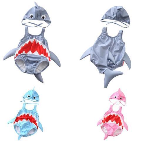 nova crianca terno de natacao bebe e menina piscina bonito tubarao terno de natacao bebe