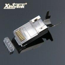Xintylink cat7 rj45 コネクタ rj 45 イーサネットケーブルプラグ cat6a 8P8C stp シールド猫 7 ネットワーク conector ジャックモジュラー 10 /50/100 個