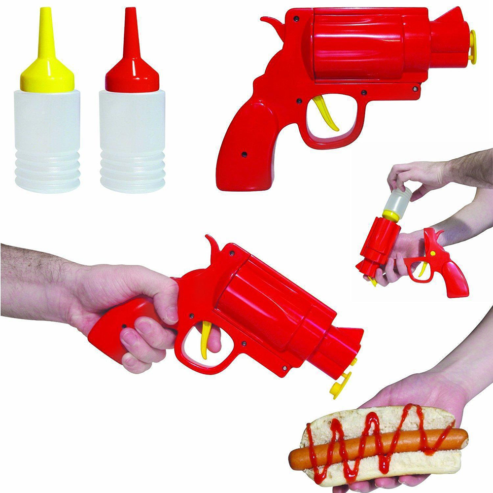 Pistol-Bottle Condiment-Dispenser Sauce Food-Grade Kitchen Gedget Ketchup Cooking Creative