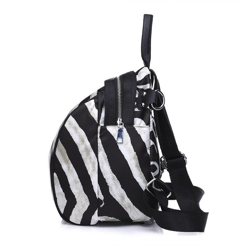 Éclair Doux Sac Dos De Poche Zèbre Sacs Poignée Femme Étudiant Oxford Zebra Stripes Fille Rayures Bandoulière Fermeture Décontracté Pour Concise À Souple nAHpwEqIz