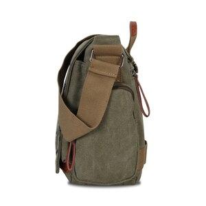 Image 3 - Винтажные мужские сумки через плечо, Холщовая Сумка на плечо, модная мужская деловая сумка через плечо для мужчин, брендовая мужская дорожная сумка с принтом