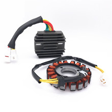 цена на Magneto Alternator Electrical Stator + Voltage Rectifier Kit For Suzuki GSXR600 GSXR750 2006-16