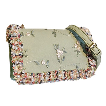 Floral Chain Shoulder Messenger Bag