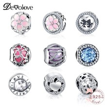 Devolove Dropshipping Authentic 100% 925 Sterling Silver Beads Fit Pandora Original Charms