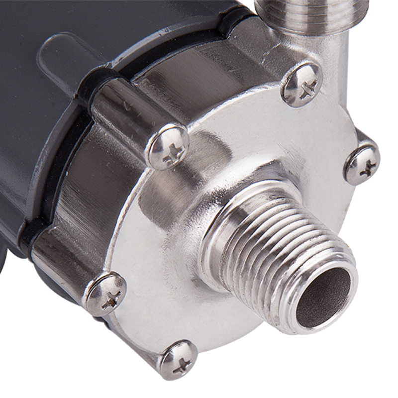 Pompe d'entraînement magnétique de prise de l'ue 15R avec la tête 304 d'acier inoxydable, brassage de bière, prise européenne 220V avec le fil 1/2Npt - 5