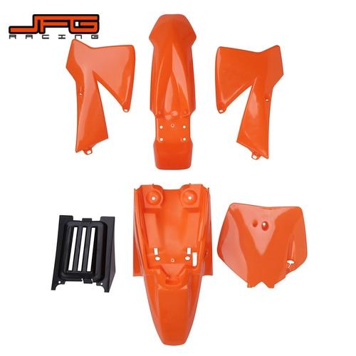 Motorcycle Plastic Front Rear Fender Radiator Shrouds Number Plate Fairing Cover For KTM SX50 SX 50 50SX Dirt Bike Motocross