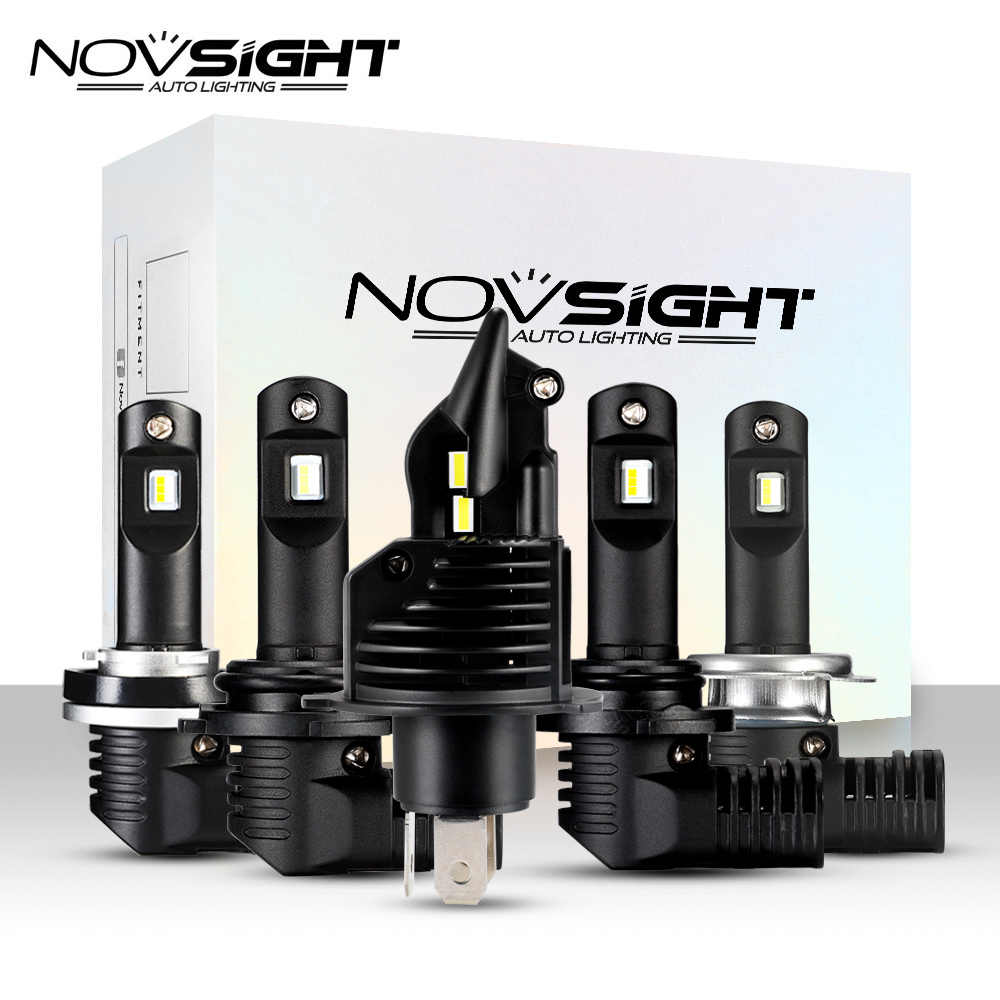 NOVSIGHT led h4 12v car headlight bulbs Kit 10000LM Lampada H7 HB3 HB4 LED 9005 9006 Auto Fog Lamp H8 H9 H11 H16 LED car light
