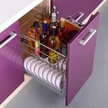 Armario De Cosina Dish Rack Pantry Stainless Steel Organizer Cuisine Cozinha Kitchen Cabinet Cestas Para Organizar Basket