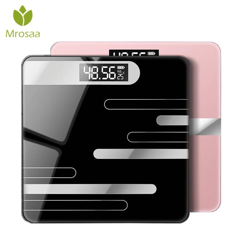 26x26 cm Bagno Bilancia s Display LCD Pavimento Del Corpo Bilancia di Vetro Smart Electronic Bilancia s Digitale del Peso di Equilibrio bariatrica 180 KG/50G