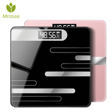 26x26cm Bathroom Scales LCD Display Floor Body Scale Glass Smart Electronic Scales Digital Weight Balance Bariatric 180KG/50G