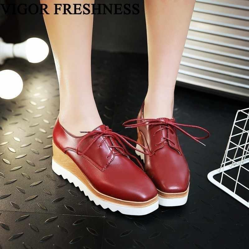 5072c4485269 VIGOR женские кроссовки на платформе, женская обувь, туфли-лодочки на  танкетке,