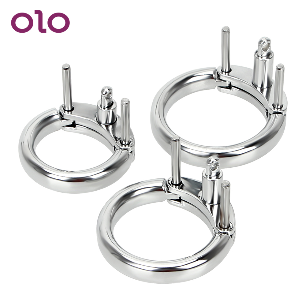 OLO Male Penis Lock Chastity Device Cock Ring 3 Size Choose Additional Restraint Cock Cage Accessories Male Masturbation