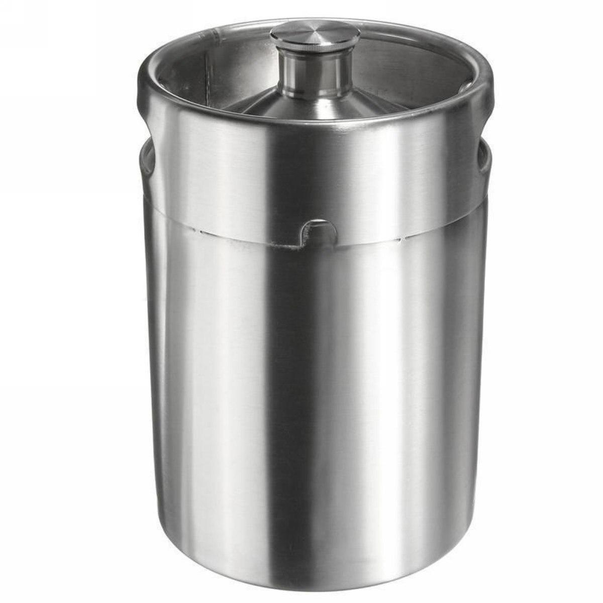 1 pc acier inoxydable Homebrew Mini Baril Growler Brassage de La Bière Faire 5L 170 oz Argent