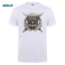 GILDAN New Short Sleeve Round Collar Famous tee cotton Combat Diver Best Friend black tshirt mens Hip-Hop Topic O Neck Clothing