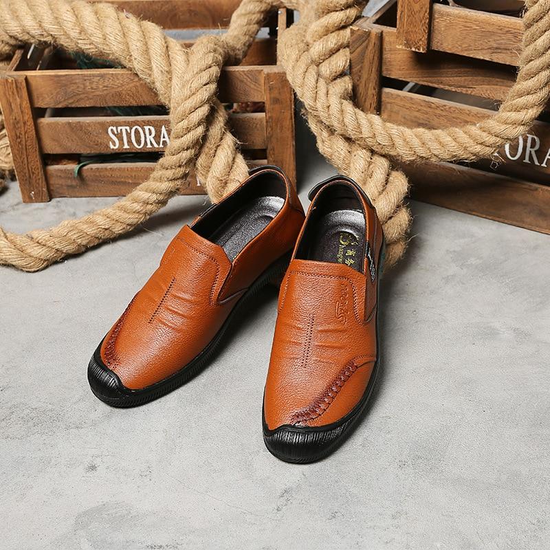 Escritório Negócios Condução Respirável Italiano Plana De brown Black Preguiçosos Novos Sapatos Sapato Confortável Couro Homem Ocasional Casual Dropshipping yellow Muluhu n7qOBCwR