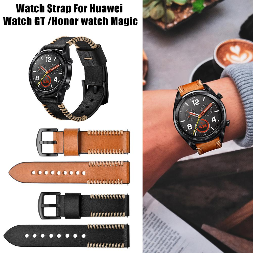 Image 2 - 22MM Smart Replacement Wristband Genuine Soft Comfortable Adjustable Sports Watch With Leather Watch Strap Ribs Type New-in Smart Accessories from Consumer Electronics