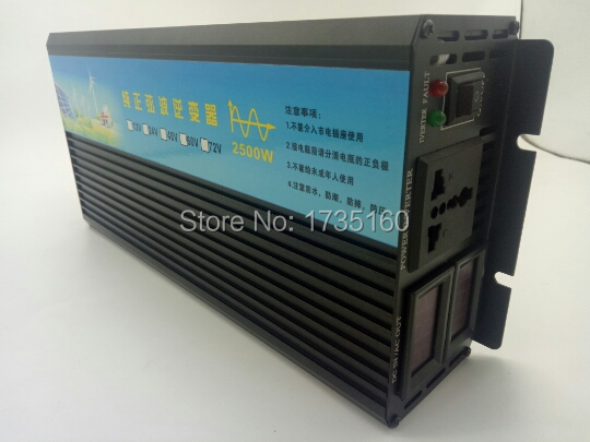 60vdc to 220vac inverter 2500W Power Inverter 12 24 48 60VDC to 220 230 240VAC Solar