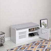 Four grid Fabric Shoe Cabinet White Hallway Cabinet Organizer Holder Door Shoe Storage Cabinet Shelf