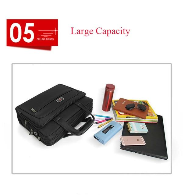 "Large Capacity Men Single Shoulder Bag 14"" 15"" 16 Inches Travel Bag Men's casual fashion Handbags Business Briefcase Laptop Bag 5"