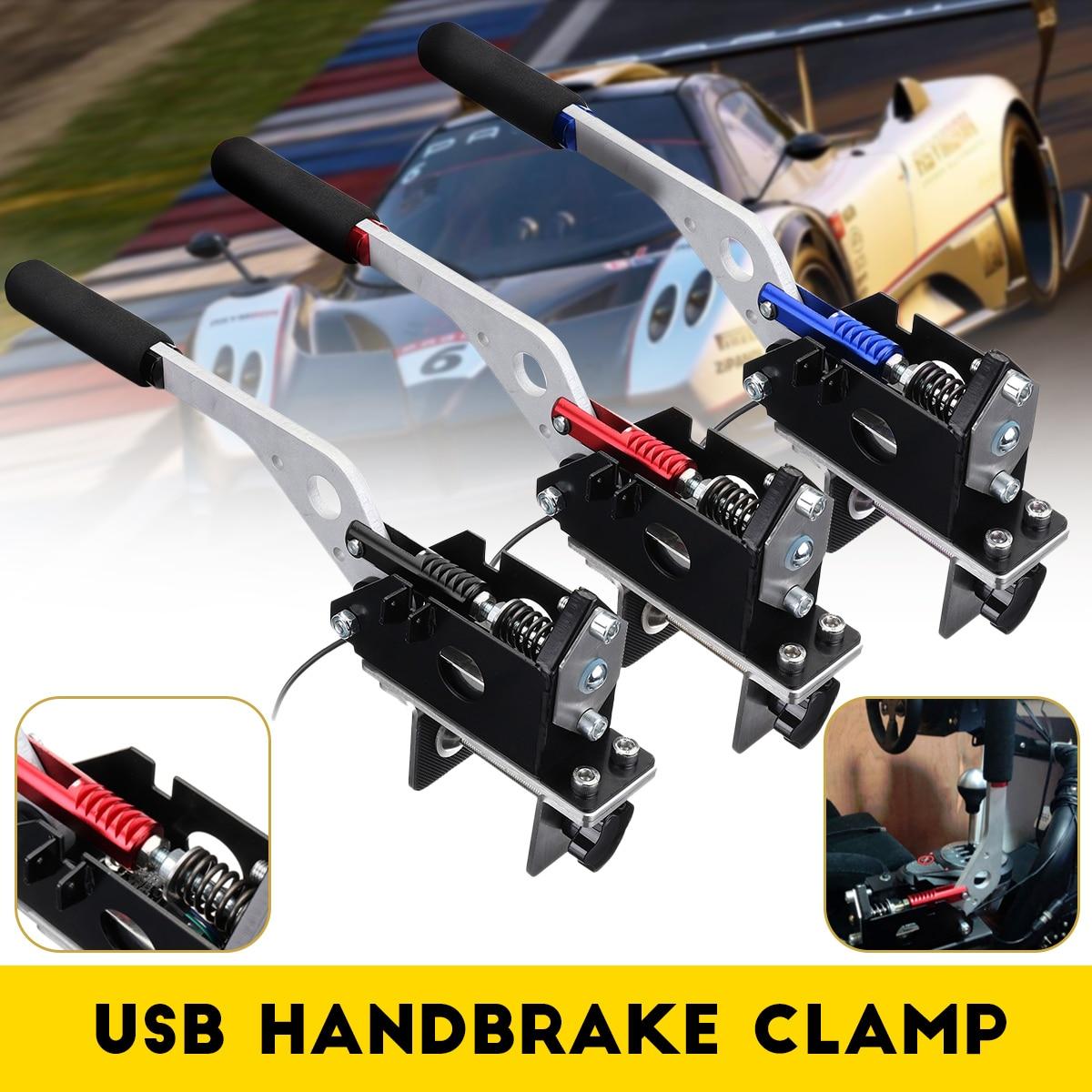 USB Handbremse Handbrake Clamp for Racing Games G25/ 27/29 T500 FANATEC OSW DIRT RALLYUSB Handbremse Handbrake Clamp for Racing Games G25/ 27/29 T500 FANATEC OSW DIRT RALLY