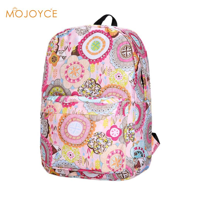 Fresh Style Women Backpacks Floral Print Bookbags Female Travel Backpack Large Capacity Unisex Canvas Shoulder School BagsFresh Style Women Backpacks Floral Print Bookbags Female Travel Backpack Large Capacity Unisex Canvas Shoulder School Bags
