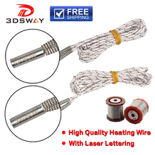 3DSWAY 3D Printer Parts 1M/2M Heater 12V 24V 50W Heating Tube 6*20mm for High Temperature Filament Hotend Kit