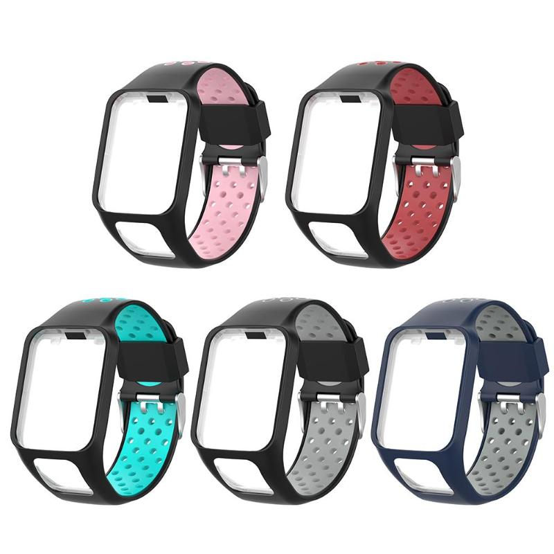ALLOYSEED Silicone Replacement Watchband Wrist Band Strap For TomTom 2 3 Series Runner 2 3 Spark 3 Golfer 2 GPS Watch Band StrapALLOYSEED Silicone Replacement Watchband Wrist Band Strap For TomTom 2 3 Series Runner 2 3 Spark 3 Golfer 2 GPS Watch Band Strap