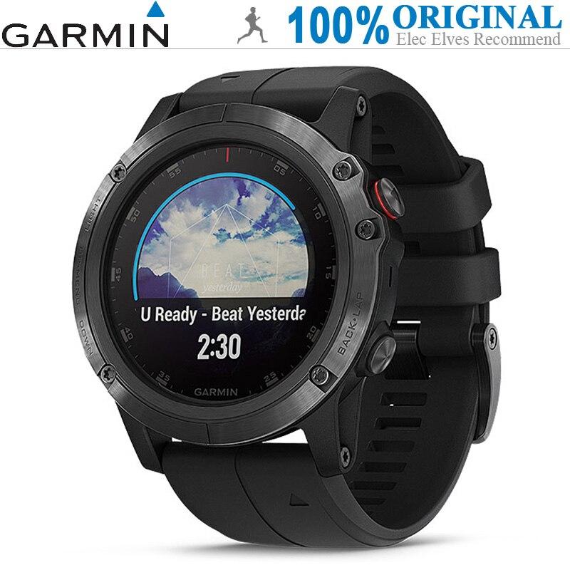 GARMIN Fenix 5X Plus умные часы (сапфировое зеркало, gps, шагомер, монитор сердечного ритма, синхронизация спортивных данных, 16 ГБ rom, водостойкий)
