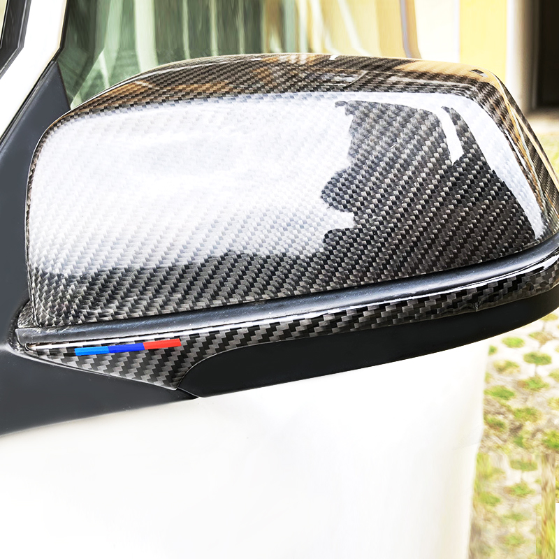 For BMW 5 Series E60 F01 F07 F10 2PCS Exterior Carbon Fiber Rearview Mirror Anti Collision Strip Rear View Anti rub Bumper Trim in Interior Mouldings from Automobiles Motorcycles
